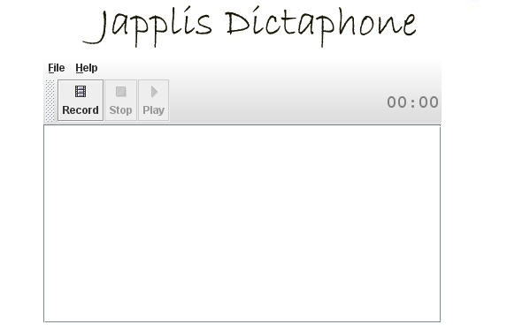Japplis Dictaphone - Free Online Voice Recorder