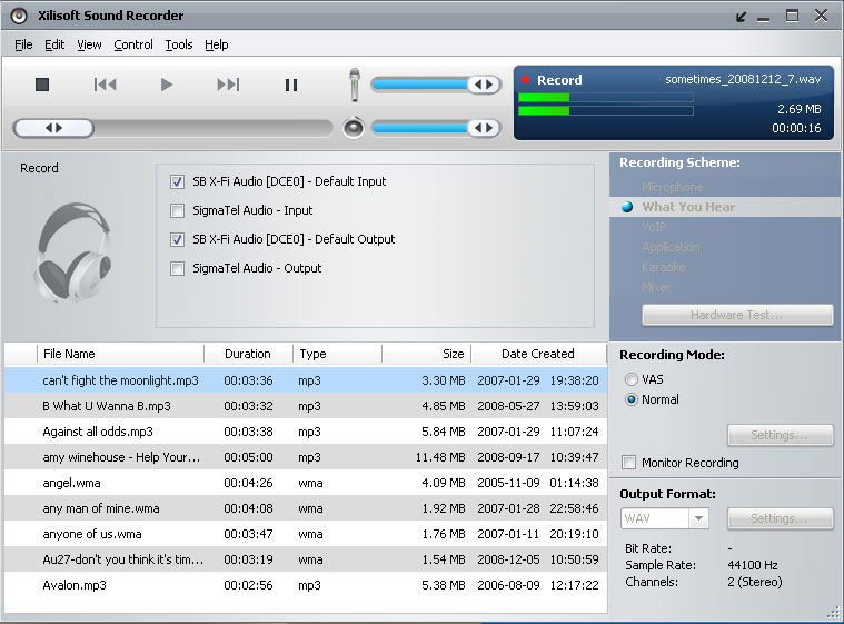 Xilisoft Sound Recorder - Free Online Voice Recorder