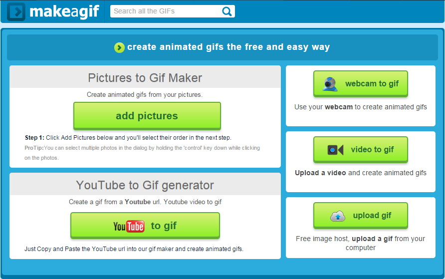 Make A Gif-Best Tools to Create Animated GIF Online for Free
