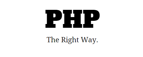 PHP  The Right Way - Best Websites to Learn PHP Programming Language online