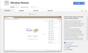 Window Resizer-Best Browser Extensions for Social Media Marketers