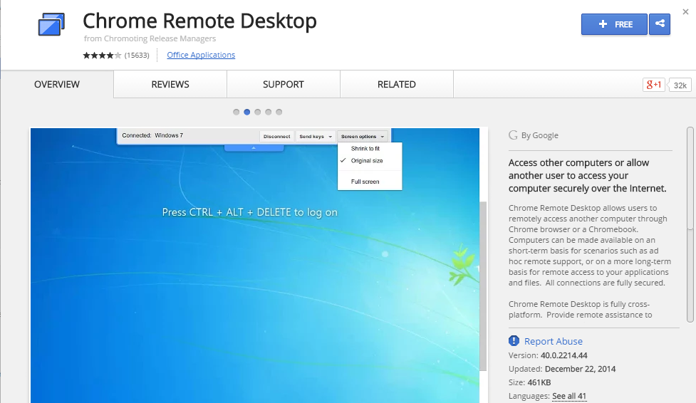 Chrome Remote Desktop-Top 10 Software to Share Desktop Screen Remotely