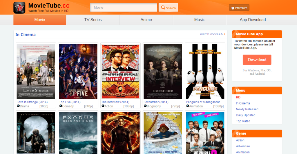 MovieTube-Top Websites to Watch TV Shows & Movies Online For Free