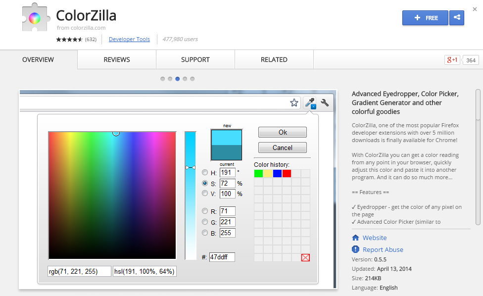 ColorZilla-Best Chrome Extensions for Developers