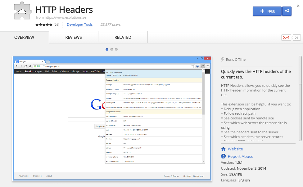 HTTP Headers-Best Chrome Extensions for Developers