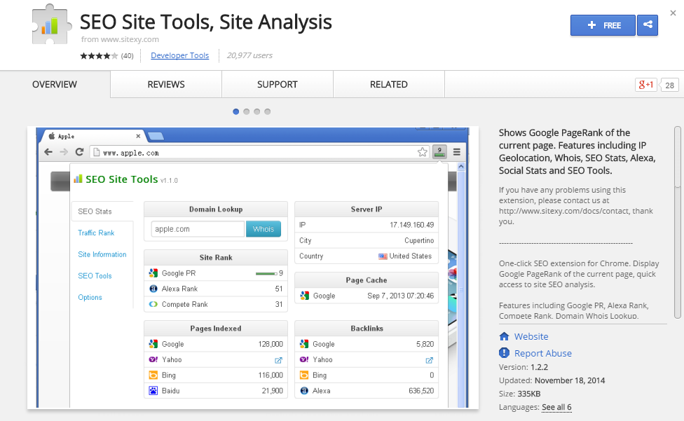 SEO Site Tools  Site Analysis-Best Chrome Extensions for Developers