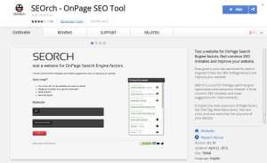 SEOrch OnPage SEO Tool-Best Chrome Extensions for Developers