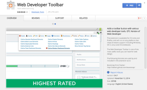 Web Developer Toolbar-Best Chrome Extensions for Developers
