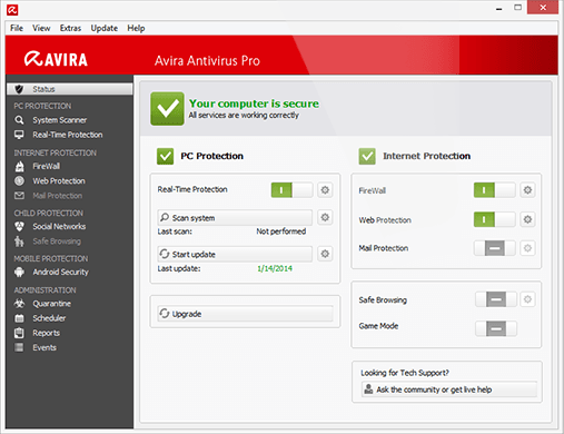 Avira free antivirus software-Best Free Antivirus Software to Remove Virus From Your PC