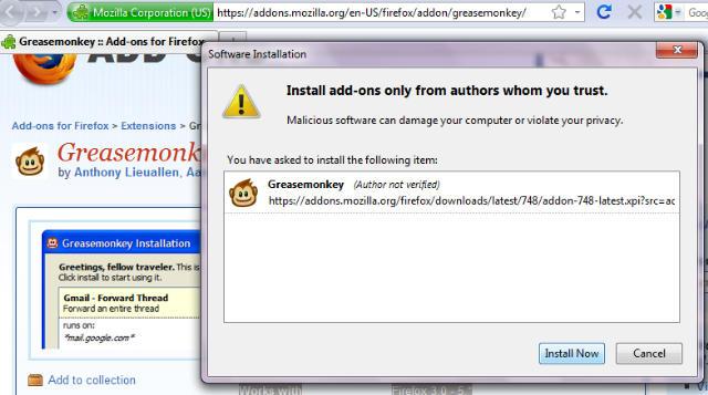 GreaseMonkey-Best Mozilla Firefox Addons for Developers 1