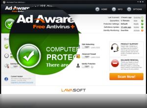 Lavasoft Free Ad Aware antivirus-Best Free Antivirus Software to Remove Virus From Your PC