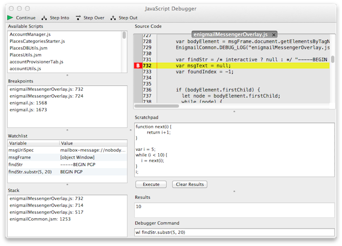 Tiny JavaScript Debugger-Best Mozilla Firefox Addons for Developers