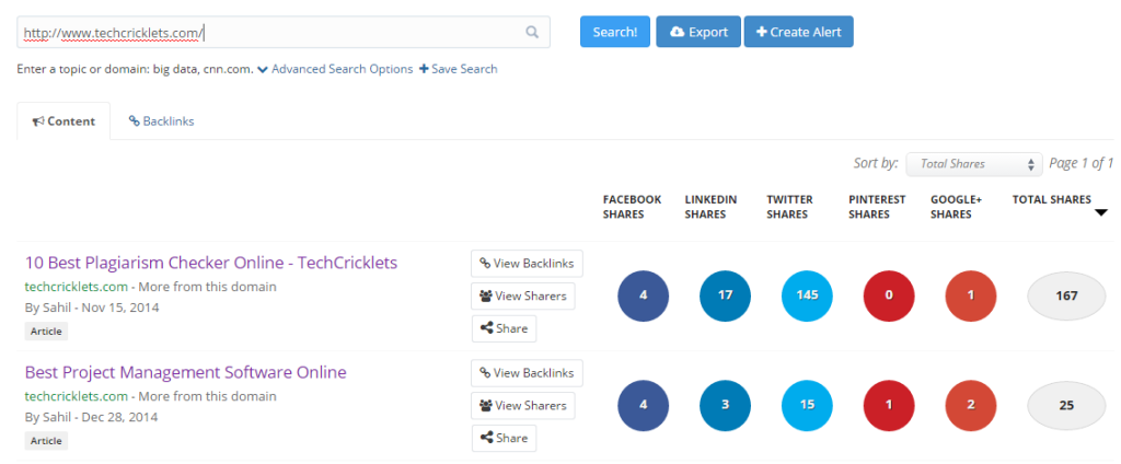 buzzsumo-Best Free Online Backlink Checker Tools