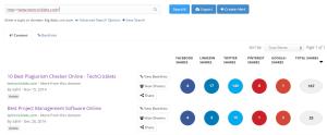 buzzsumo-Best Free Online Backlink Checker Tools