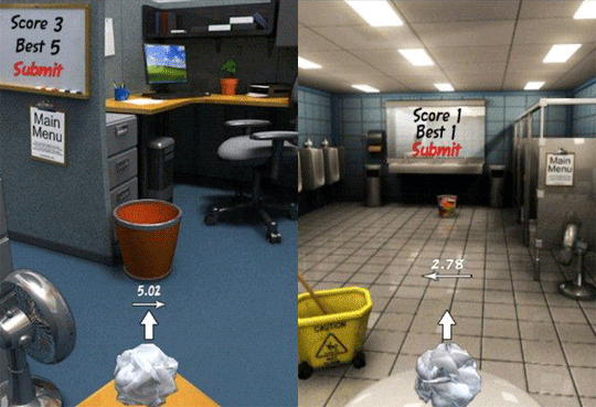 Paper Toss-List of Stress Free Games that One Should Play