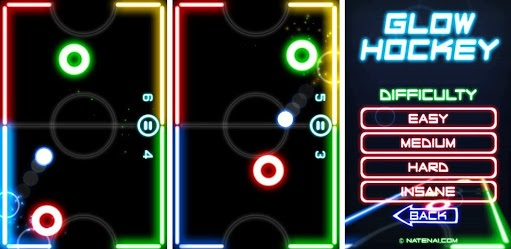 glow hockey-List of Stress Free Games that One Should Play