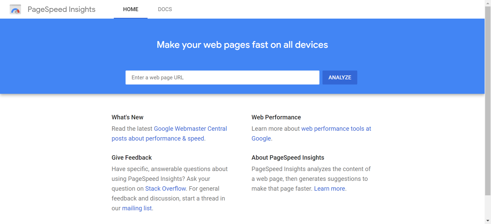 Google pagespeed insight-Best Website Page Speed Test Tools-Mobile Site-Desktop Site